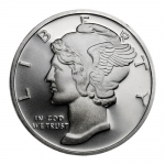 Mercury Design One Troy Ounce .999 Fine Silver Round